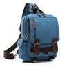 Retro Messenger Bag Canvas Shoulder Backpack Travel Rucksack Sling Bag