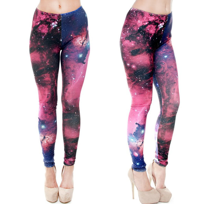Women 3D Star Sky Print Sports Exercise Yoga Leggings