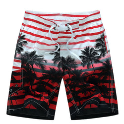 2020 Men Summer Style Beach Quick Dry Coconut Tree Printing Shorts