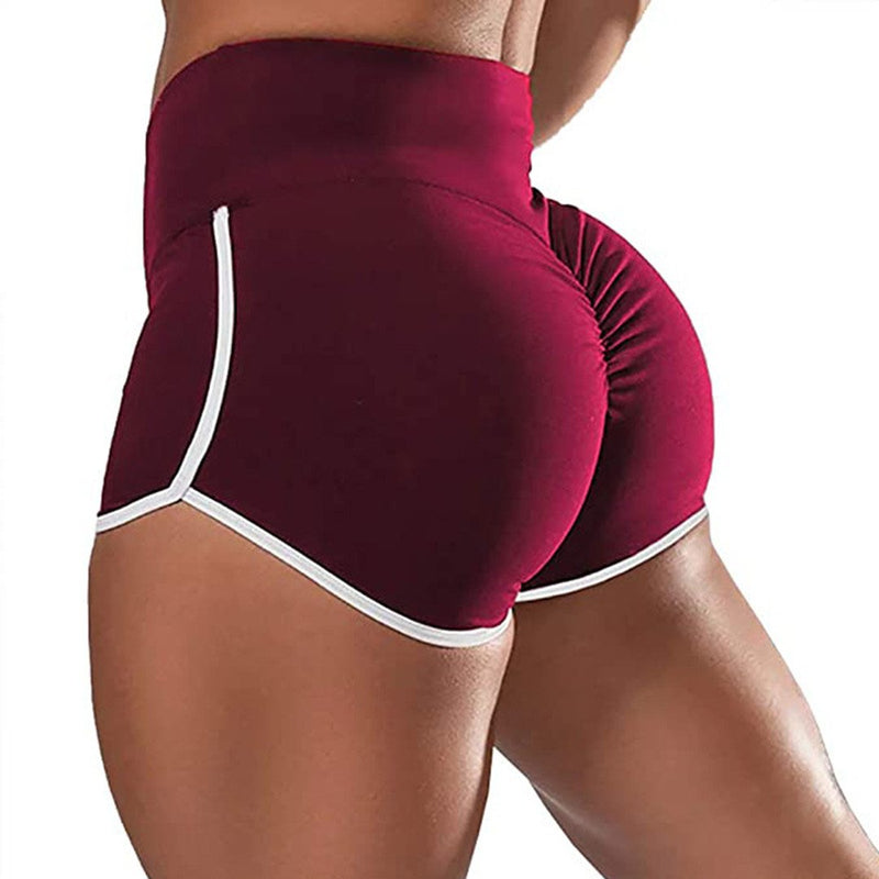 Yoga Running Shorts with Tight Waist Stretch