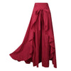 Irregular Lotus Leaf Bow High Waist Pants Skirt