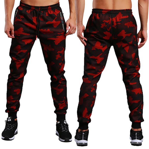 Men Military Camouflage Joggers Workout Gyms Camo Pants