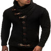 Men's Knitted Turtleneck Cardigan Winter Pullover Hoodies Casual Sweaters Jumper