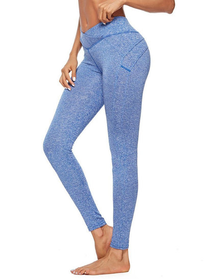 Slant Triangle Fold High Waist Yoga Leggings