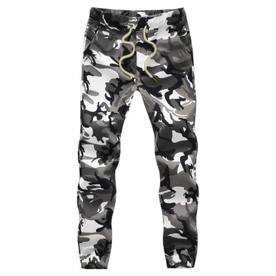 Men's Camo Jogger Military Pencil Trousers Harem Cargo Pants