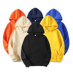 Men's Spring Autumn Male Casual Solid Color Hoodies Sweatshirts
