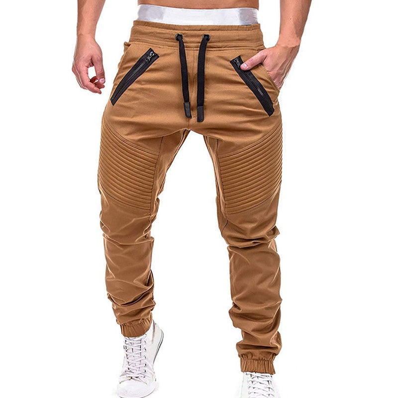 Men's Sportswear Hip Hop Harem Joggers Pants Male Solid Multi-pockets Trousers