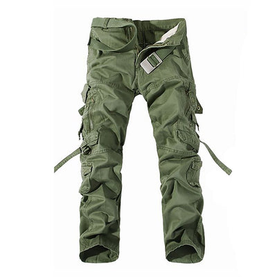 Men Military Tactical Multi-pocket  Trousers Washed Overalls Cotton Cargo Pants