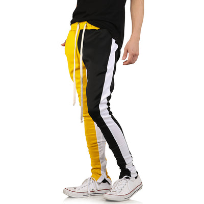 Men's Zipper Fitness Sportswear Skinny Sweatpants Gyms Casual Jogger Harem Track Pants