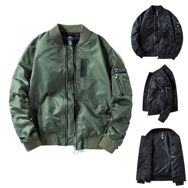 Men Spring&Autumn Military Flight Pilot Jacket Casual Baseball Uniform Sports Outerwear