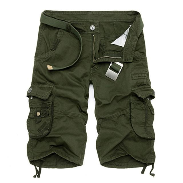 Men's Summer Camouflage Pure Cotton Comfortable Military Tactical Cargo Shorts