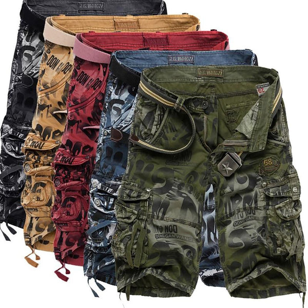 2020 Summer New Large Size Loose Mens Military Cargo Army Camouflage Shorts