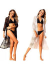 Women Fashion Lace  Bathing Suit Bikini Cover-up Beach Sexy Swimsuit Smock