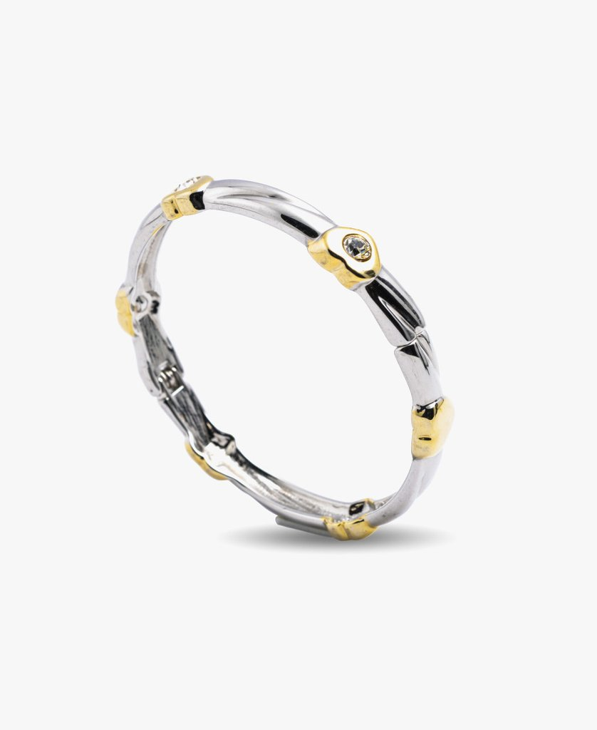 Grooved Texture Gold Bangle Set