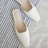 Zula Weaved Slip Ons (Cream)
