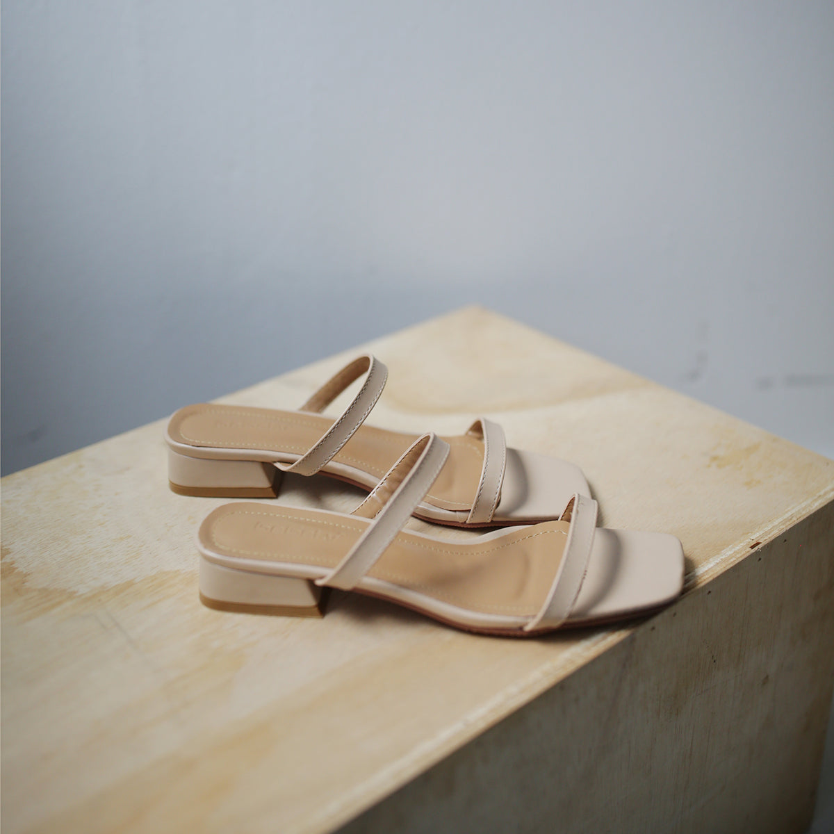 Jenn Double Strap Sandals (Nude)