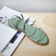 Kal Strappy Sandals (Sage Green)
