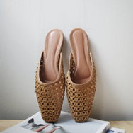Kera Weaved Slip Ons (Tan)