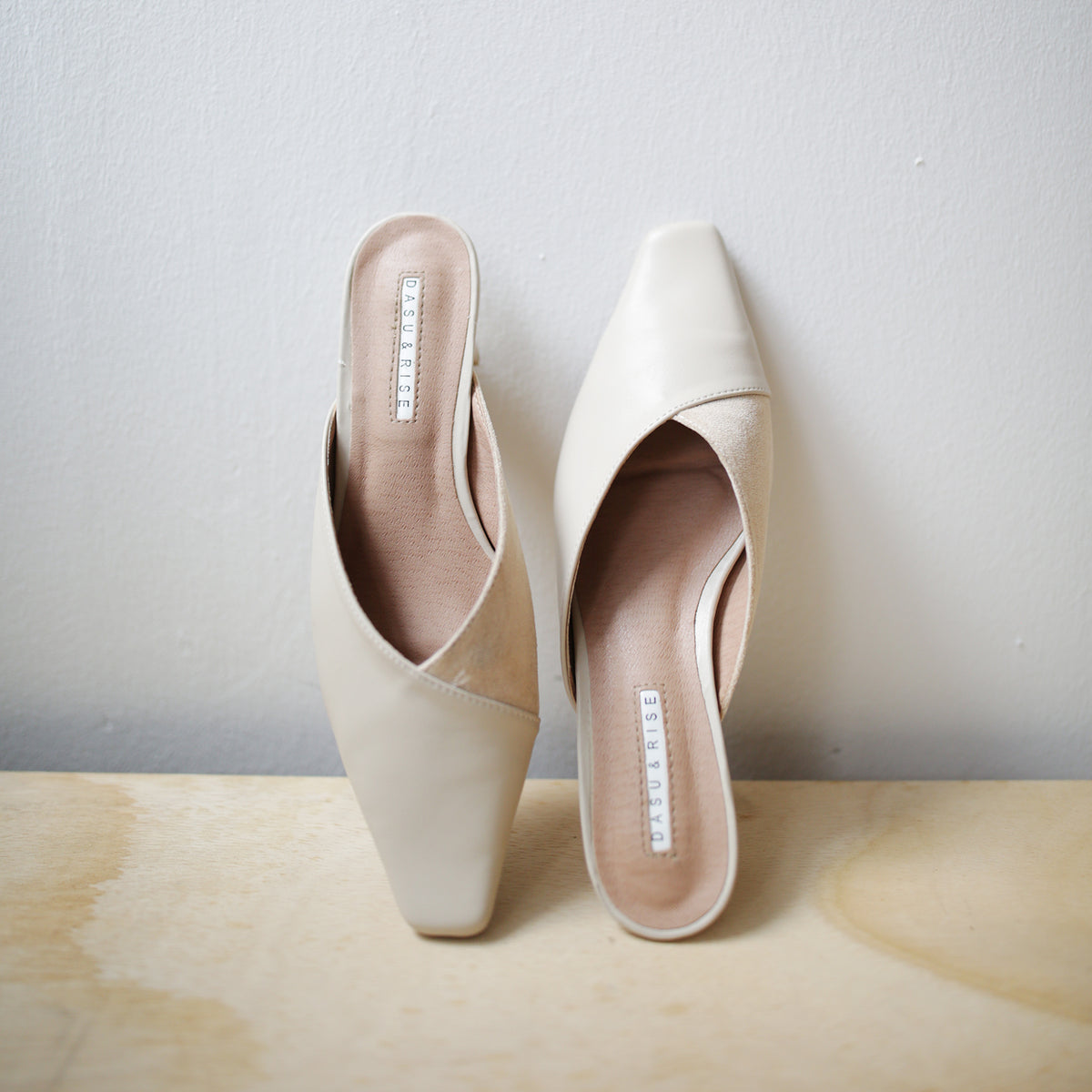 Marc Colourblock Heels (Cream)