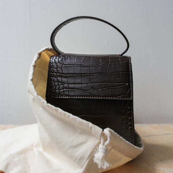 Portia Square Croc Bag