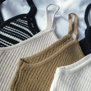 Essential Knit Cami (Stripes)