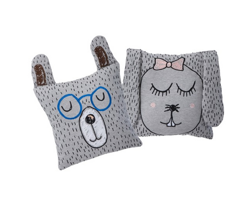 Ferm Living Little Ms. Rabbit e Little Mr. Teddy Cushion