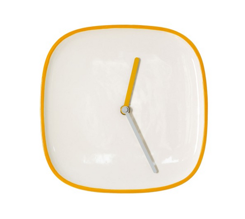 Teo Plate Wall Clock (Yellow)