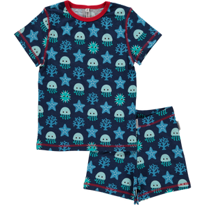 Maxomorra Organic Pyjama SS Set- Deep Sea - Eco-KidsWear