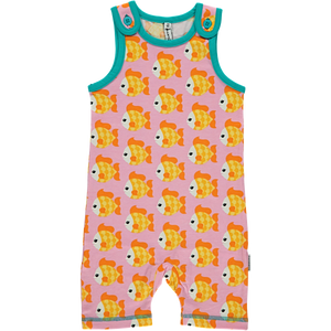 Maxomorra Organic Playsuit- Goldfish - Eco-KidsWear