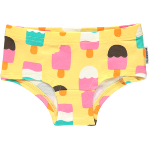 Maxomorra Organic Panties- Ice Cream Yellow - Eco-KidsWear
