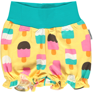 Maxomorra Organic Shorts- Ice Cream Yellow - Eco-KidsWear