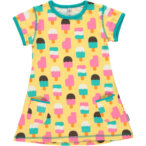 Maxomorra Organic Tunic- Ice Cream Yellow - Eco-KidsWear