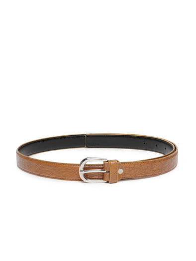 Purplicious Tan Leather Finish Belt For Women - Purplicious