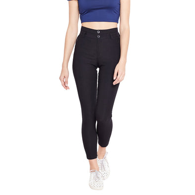 Purplicious Blended Cotton Stretchable Women Jeggings - Purplicious