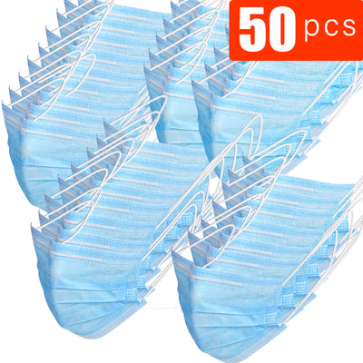 50/100 Pcs Disposable Surgical Face Mask Comfort Earloops Great for Virus Protection and Personal Health Free Shipping