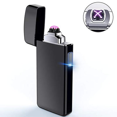 Arc Lighter, AngLink Electric Lighter USB Rechargeable Double Arc Lighter Plasma Beam Flameless Windproof Lighter for Smokers - USB Cable Included  by Anglink - AngLinks