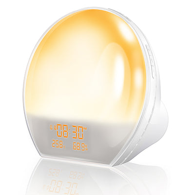 AngLink Wake-up Light, Sunrise Alarm Clock Sunrise & Sunset Fading Night Light, Multi-Color Mood Light