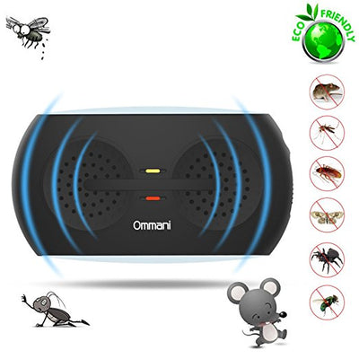 Ultrasonic Pest Repeller, Insect Repeller Electronic Plug in Pest Repellent Control with On/Off Night Light Human Pet Safe, Mouse Repeller Pest Reject for Rodent Bug Roach Fly Mosquito Flea Spider - AngLinks