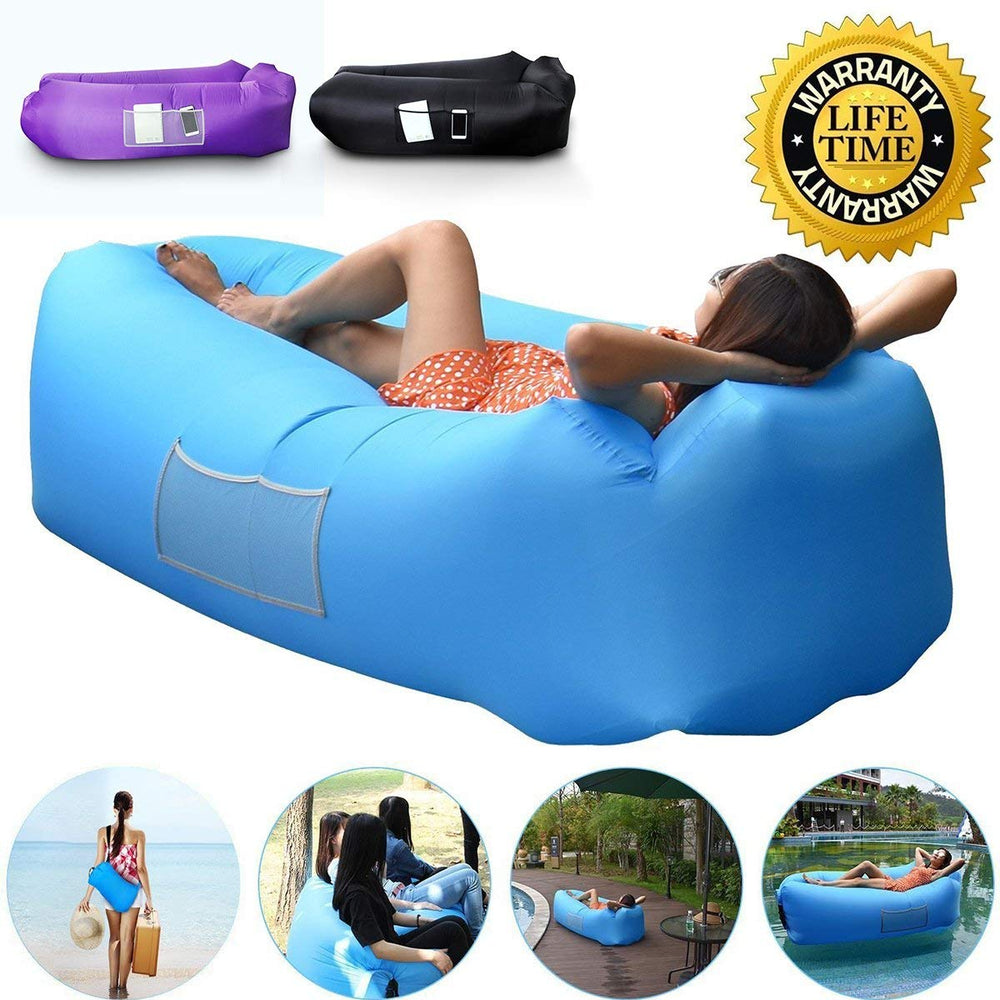Camp Sleeping Gear 2019 Hot Inflatable Sofa Outdoor Beach Lounger Chair 10 Colors Lazy Sofa Comfortable Lazy Bag Air Sofa Bed Camping Equipment For Sale Camping & Hiking