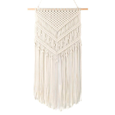 Anglink Macrame Wall Hanging, Woven Wall Hanging, Boho Wall Pediments (12.5''W x 32''L) - AngLinks