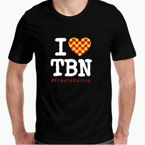 Camiseta chico I love Tabarnia