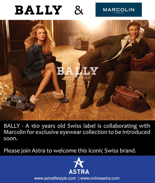 Marcolin Group & Bally sign a worldwide exclusive eyewear licence agreement