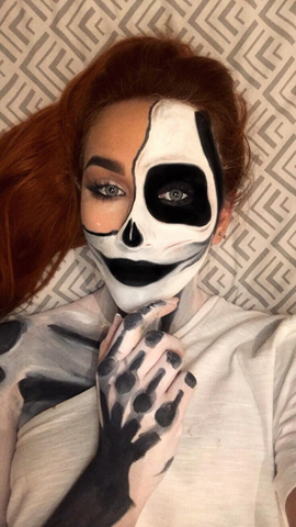 Halloween make up | Skeleton | Mykady | Lebanon