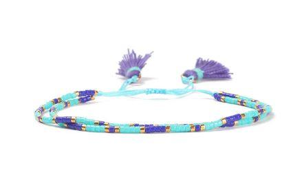 Tassel Two Layers Violet Bracelet