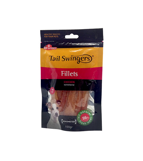 Pet Interest Tail Swingers Soft Chicken Slices 100gr