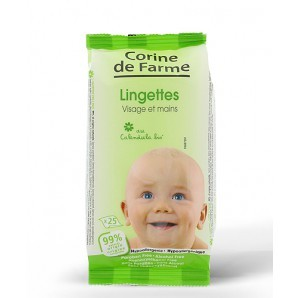 Corine De Farme Baby Wipes Face And Hands 25 Pieces