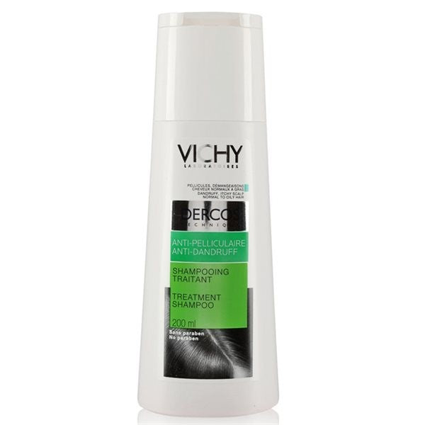 VICHY DERCOS SHAMPOING ANTIPELICULAIRE CHEVEUX SEC S200ML
