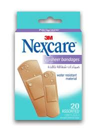 Nexcare Sheer Adhesive Bandages Assorted Pack of 20