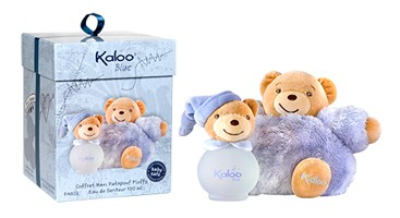 Kaloo Blue with baby stuffed animal