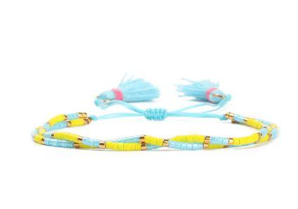 Tassel Two Layers Light Blue Bracelet
